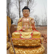 Bronze Gold Buddha Sculpture For Sale