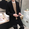 Men′s Hong Kong Style Slim MID-Length Woolen Woolen Jacket