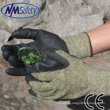 NMSAFETY super fit Water-based PU coated cut and chemical resistant gloves