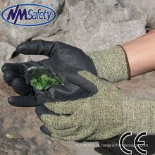 NMSAFETY super fit Luvas de corte e luvas resistentes a produtos químicos revestidas com base em água