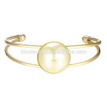2017 Nuevo diseño de pulseras de plata 22k oro brazaletes de diseño simple últimas mujeres de la manera delgada bola pintada