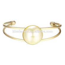 2017 Nouveau bracelets en argent designer 22 k or conception simple bracelets dernières femmes mode mince balle peint