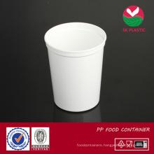Round Plastic Food Container (AB 1032 white)