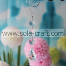 Online Sell 14.5CM Transparent Plastic Acrylic Full Cut Waterdrop Holiday Beading Dropping Deocration