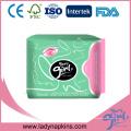 Frauen-medizinische Auflagen-negative Ionen-Bambus-verschiedene Arten sanitäre Menstruations-Auflagen