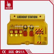 BD-B101 China Lockout Station Estação de bloqueio de segurança elétrica avançada e Tagout Station para Padlock hasp
