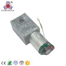 Motor da CC da engrenagem de sem-fim da CC 6V-24V micro 80-130RPM