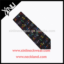 100% Handmade Perfect Knot Printed Tie Wholesale Neckties With Musical Designs