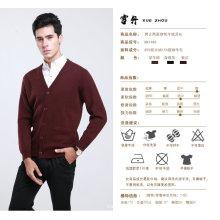Bn488 Yak laine / Cachemire V Neck Cardigan à manches longues Pull / Vêtements / Vêtement / Tricots