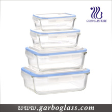 4PCS Pyrex Glass Bowl Set with Lid