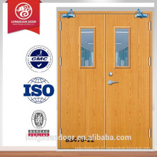 Top Wood Factory BS476 Approuvé Fire Rated Wooden Fireproof Door