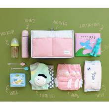 Bolsas de pañales lindas para bebés de color rosa.