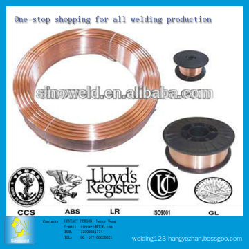 0.6mm to 1.6mm CO2 gas shield copper-coated Solid Mig Welding Wire ER70S-6