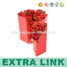 Los rectángulos de acrílico de encargo cortan las cajas para las flores