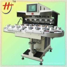 Semi-automtic 6 cores disney bola tampon máquina de impressão com transportador
