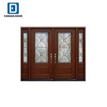 Fangda diseño nuevo y moderno de gran tamaño puerta principal de diseño de puertas