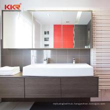Solid Wood Bathroom Cabinet Stone Resin Vanity Cabinet  Hand Wash Sink