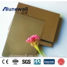 Panel compuesto de aluminio ignífugo de Alunewall del revestimiento exterior de la pared del acero inoxidable