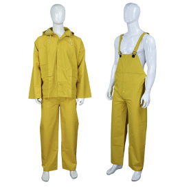 2pcs PVC polyester waterproof raincoat with pants