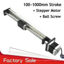 Carril de guía de aluminio del obturador del rodillo del movimiento de poco ruido de 500m m para las impresoras