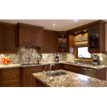 American Water Resistant Assembled Vinyl Wrap Kitchen Cabinet with Ce Certificate