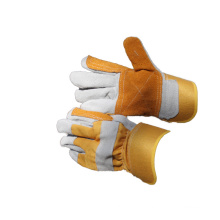 NMSAFETY cow split leather working gloves