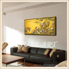 Ilustraciones enmarcadas famosas de la artista de acrílico