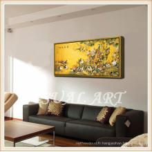 Peinture à l'acrylique célèbre Reproduire une oeuvre d'art encadrée