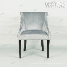 En gros conception moderne restaurant hôtel maison tissu à manger chaise avec des motifs