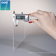 OLEG high quality wholesale 3mm clear cast acrylic sheet,transparent acrylic plate
