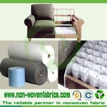 Tissu non-tissé en gros de pp pour la tapisserie d'ameublement de meubles