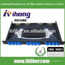 12 ports Fixed Rack-mount Fiber Optic Patch Panel / mini ODF / boîte à bornes