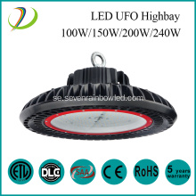 IP65 Vattentät 150w Led UFO Highbay Light