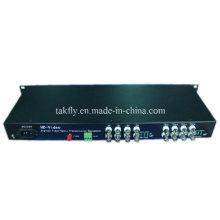 16 CH 1080P Resolución Ahd & Cvi & Tvi Video Fiber Transmission