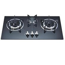 Factory Directly Sell Built in Tempered Glass 3 Burners Gas Cooker