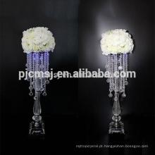 Peça central de cristal por atacado barato para decoração de casa e casamento
