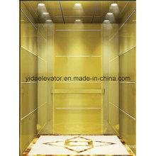 FUJI espelho gravado aço inoxidável elevador de passageiros (JQ-B012)