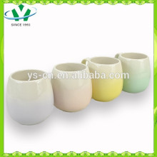 Venta caliente 100% Pintado a mano cuatro tazas de cerámica de color, Copa de cerámica BSCI