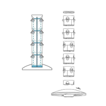 Skyplant  Hot Sale New Vertical Tower Hydroponic growing Systems