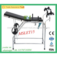 MSLET15M 2016 Best price Convenient Gynecological examination bed stainless steel examination bed