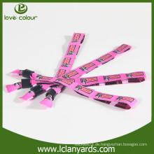 Kundenspezifisches neues Produktgewebe gesponnenes Armband für Vip Eingang