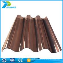 China heißer Verkauf lexan gewölbte Polycarbonatplatten Plastikdachplattenhersteller