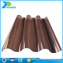 China hot sale lexan corrugated polycarbonate panels plastic roofing sheets manufacturers