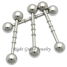 316L Steel Triple Notched Straight Piercing Ear Cartilage Ring