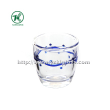 Doble botella de vidrio de pared de BV, SGS, (Dia8.3cm, H: 8.3cm, 220ml)
