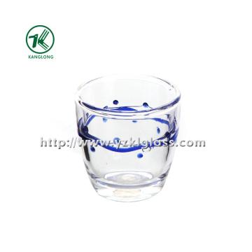 Двухстенная стеклянная бутылка от BV, SGS, (Dia8.3cm, H: 8.3cm, 220ml)