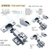 Push Open Hinge, Door Hinge, Desk Door Hinge (AL-2201, 2202, 2203)