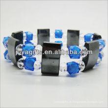 01B5007 / novos produtos para 2013 / hematita spacer pulseira de jóias / bracelete de hematita / pulseiras de saúde hematita magnética