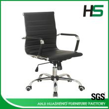 Negro PU comedor sillas de cuero / silla de trabajo