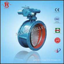 Electric Soft Sealed Flange Butterfly Valve